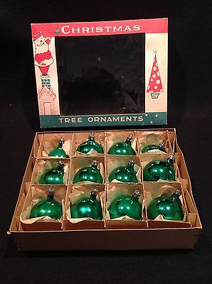 12 Vtg Polish  Poland Christmas Tree Glass Ball Ornaments