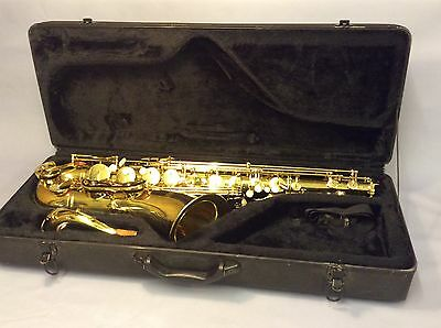 Parchment Saxophone In Case Ship Worldwide