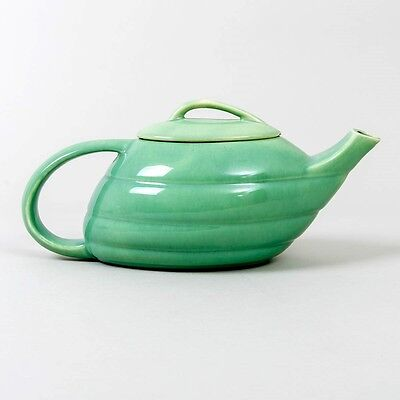 Rare Vintage BAUER Ringware Green Teapot Aladdin Lamp Lidded Signed Ray Murray