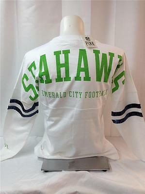 91191d589 Victorias Secret Love Pink Nfl Seattle Seahawks Bling Varsity Crew Small