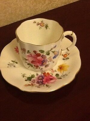 Royal Crown Derby cup and saucer Posie Pattern