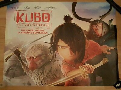 Kubo And The Two Strings Official Cinema Quad Poster