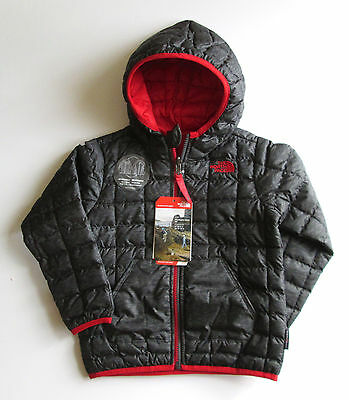 Nwt The North Face Toddler Boys' Reversible Thermoball Hoodie-4T