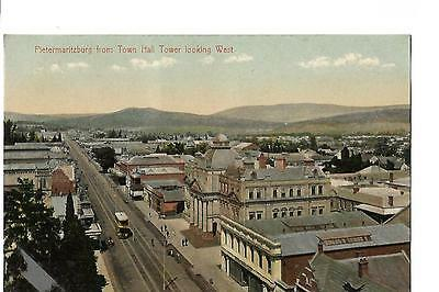 South Africa. Pietermaritzburg from Town Hall Tower. Tram.