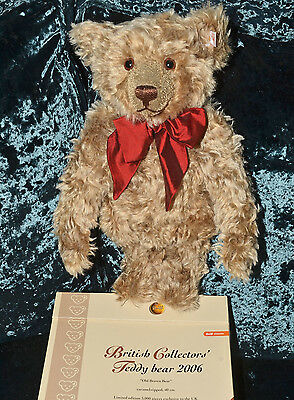 STEIFF Limited Edition 2006 BRITISH COLLECTORS BEAR, 662218 -NEW in BOX,Pristine