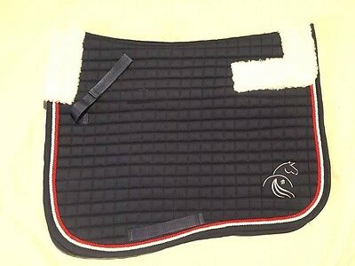 Navy Fleece Lined Jumping saddle Cloth