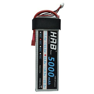 RC Battery 14.8V 5000mAh 50C-100C 4S RC LiPo Li-Poly Battery for Helicopter Quad