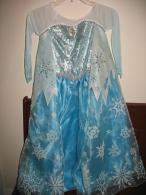 NWT Disney Store 1st Edition Frozen Elsa costume w/ longer cape sz 7 8 Halloween