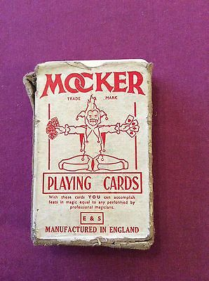 One used pack of Mocker vintage playing cards