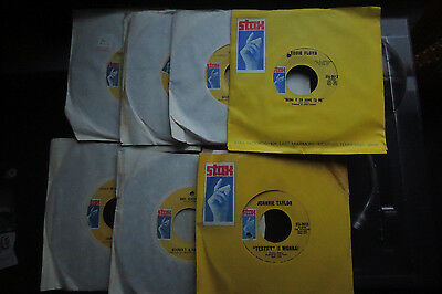 STAX SOUL LOT 7 great 45's unplayed Booker T Eddie floyd Johnny taylor