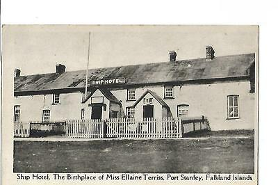 Falkland Islands. Port Stanley. Ship Hotel, Birthplace of Miss Ellaine Terriss.