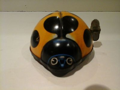 Vintage Tin Yone Ladybird toy made in Japan 1960's