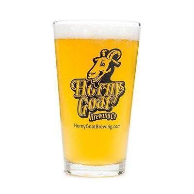 Horny Goat Brewing Company Milwaukee, Wi 16 Ounce Beer Drink Pint Glass, New!