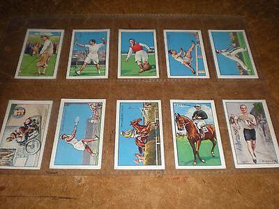 1934 gallaher  champions(a series, captions on front)  cigarette cards set of 48