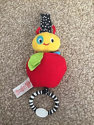 Bright Starts Caterpillar And Apple Baby Pull Toy/Teether. Never Used