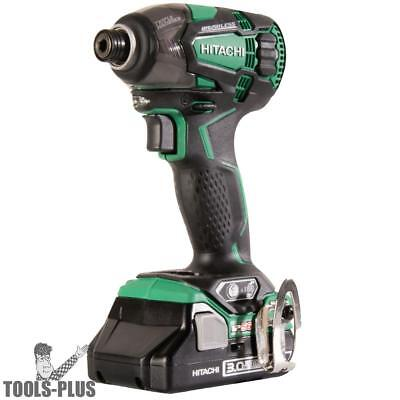 "18V 1/4"" Li-Ion Brushless Triple Hammer Impact Driver Kit Hitachi WH18DBDL2 New"