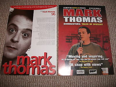 2 x early Mark Thomas UK theatre leaflets (Comedy Product)