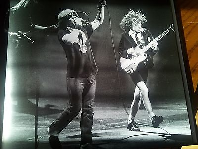 AC/DC Live Toronto Canada Back in Black 1981 Single Page from Music Book 27x24cm