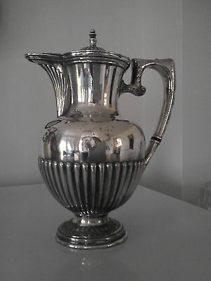 Antique silver plated coffee pot hot water jug