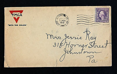 """WWI YMCA """"With The Colors"""" 1919 Sc# 501b Single Booklet Stamp Camp Humphreys VA"""