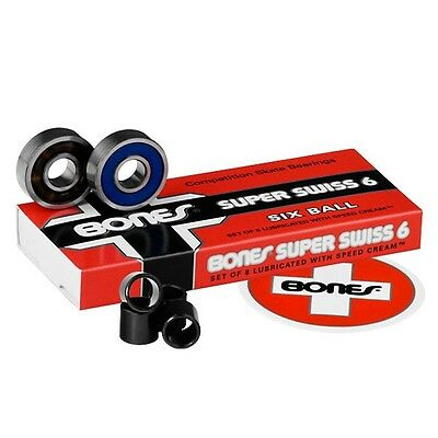 Bones - Super Swiss 6 Balls Skateboard Bearings
