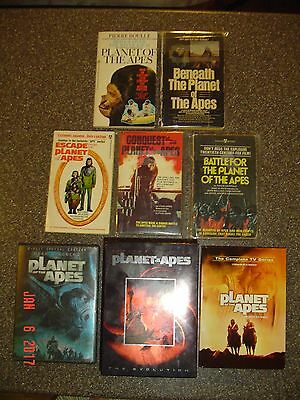 PLANET OF THE APES - 5 Books 2 Author Signed, Movies DVD Box Sets TV Series