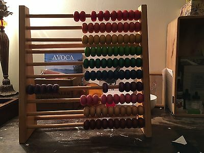 Wooden Abacus For Kids Great Condition Traditional Maths Toy