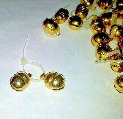 Pair of Falconry Lahore Bells Golden Bells (All Sizes Available) Great Sound.