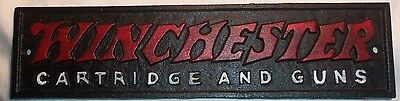 Cast Iron Winchester Rifle Sign Repeating Arms  Cartridge And Guns Painted Sign