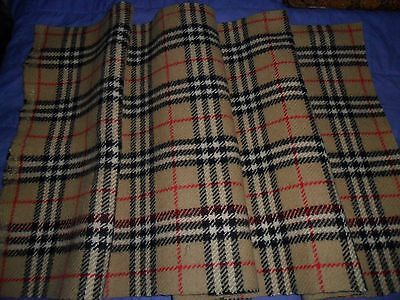 Vintage Burberry Wool Remnant Fabric.
