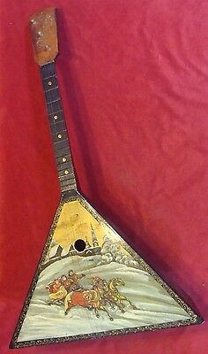 RUSSIAN  BALALAIKA  3 strings (Oil Hand Painted with artist sign)