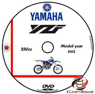 Manuale Officina Yamaha Yzf 250 My 2002 Workshop Manual Cd Dvd