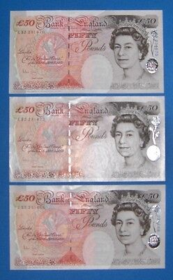 UK STERLING - REAL CURRENCY - 150 British Pounds - 3, 50 British Pound Notes