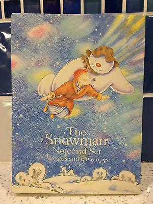 Vintage The Snowman Note Cards Raymond Briggs