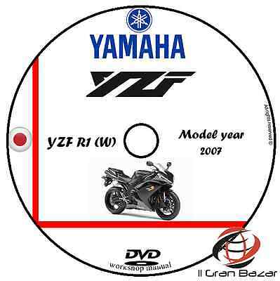 Manuale Officina Yamaha Yzf R1(W) My 2007 Workshop Manual Cd Dvd