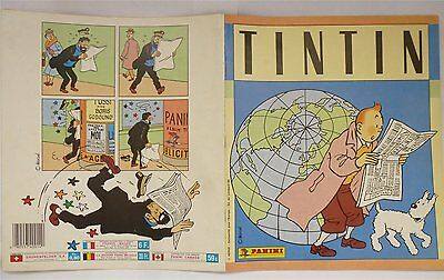 HERGE TINTIN 1989 - ALBUM complet PANINI 240 images couleurs COLLEE