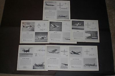Bell Aircraft Corporation glossy photo information cards X-1, HSL-1 Helicopter