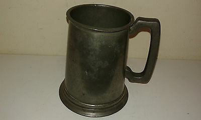 Vintage pewter SS Australia beer mug with glass bottom