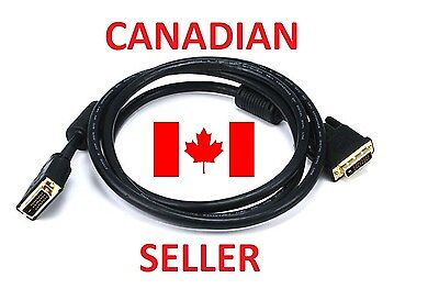 6FT GOLD DVI-D to DVI-D Heavy-Duty Monitor Cable **FAST FREE SHIPPING**