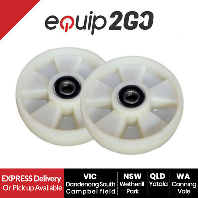 2 x Solid Nylon spare steering wheels for pallet jack 180 x 50