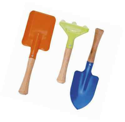 Kids Gardening Tools 3 Piece Set Comes with Small Rake Spade and Trowel Garden T