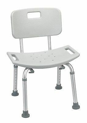 Drive Medical Designer Series Deluxe Bath Bench with Back, Grey