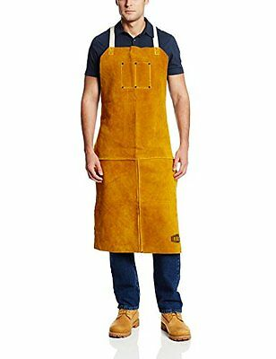 """West Chester 7010 Heat Resistant Leather Apron, 24"""" Width x 42"""" Height, Tan"""