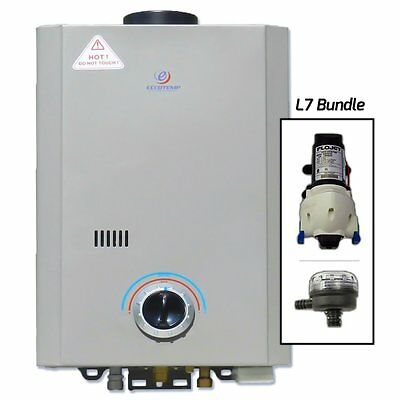Eccotemp Systems L7 Pump/Strainer Bundle L7 Tankless Water Heater with Flojet Pu