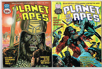 Planet Of The Apes #17 & 18 Nm & Nm+ Marvel Comics Lot 1976 Conquest Of Alcala