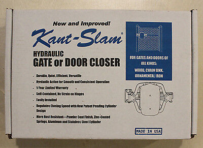 Kant-Slam Hydraulic Gate Or Door Closer - Made In Usa