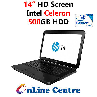 "HP 14-R250TU 14"" Notebook Celeron ~2.5GHz 500GB USB3.0 W10 *CLEARANCE*"