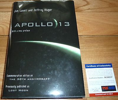 Captain Jim-James Lovell Autographed-Signed Apollo 13 Hardcover Book Psa/dna 237