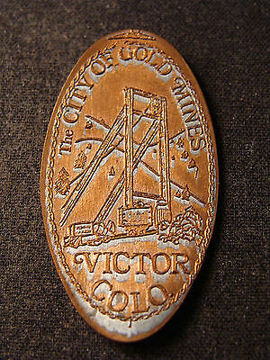 The City of Gold Mines, Victor Colorado elongated penny