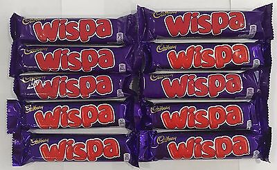 901283 10 x 36g BARS OF CADBURY'S WISPA - AERATED MILK CHOCOLATE BARS! - U.K.
